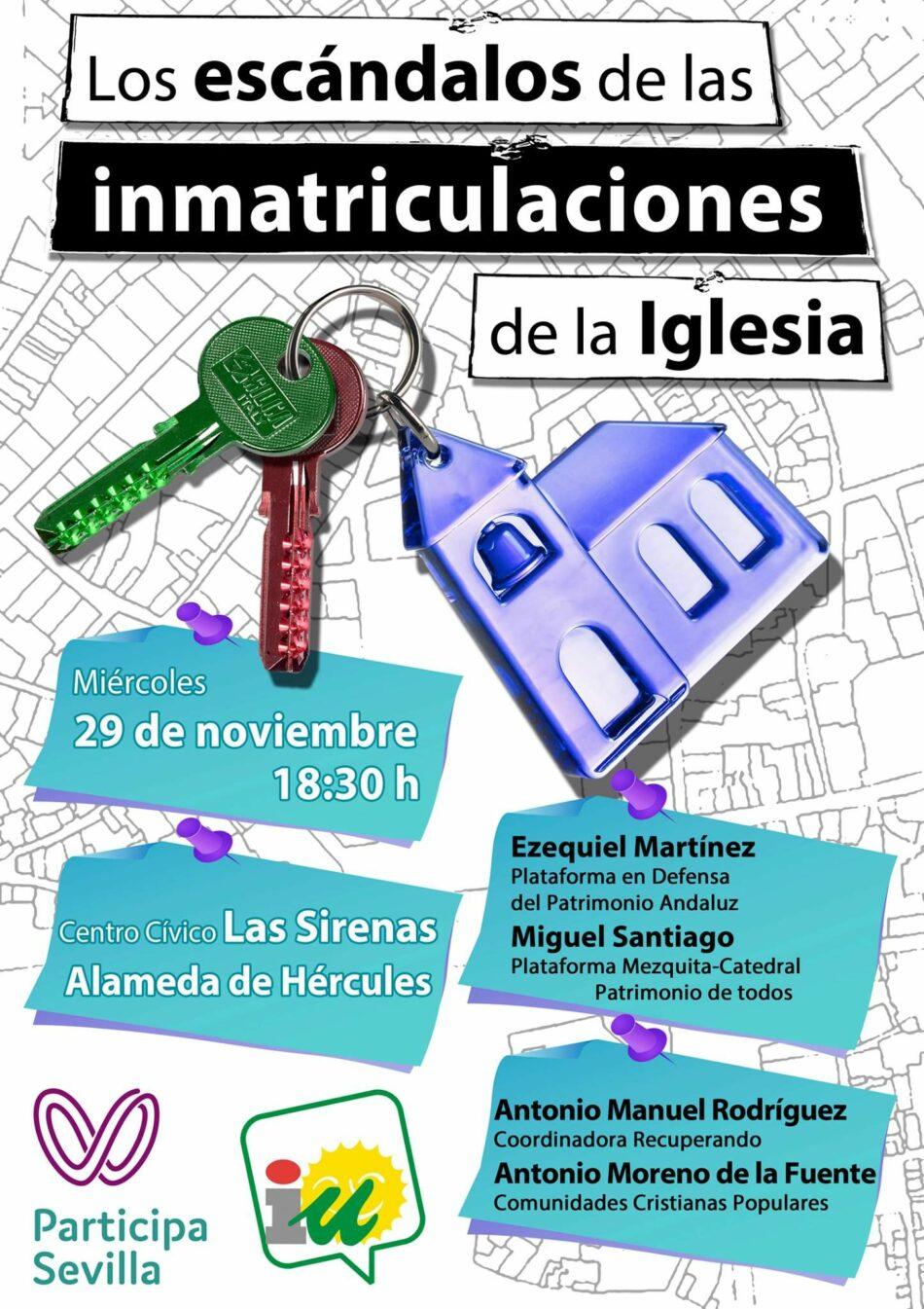Jornadas sobre el escándalo de las inmatriculaciones de la Iglesia en Sevilla