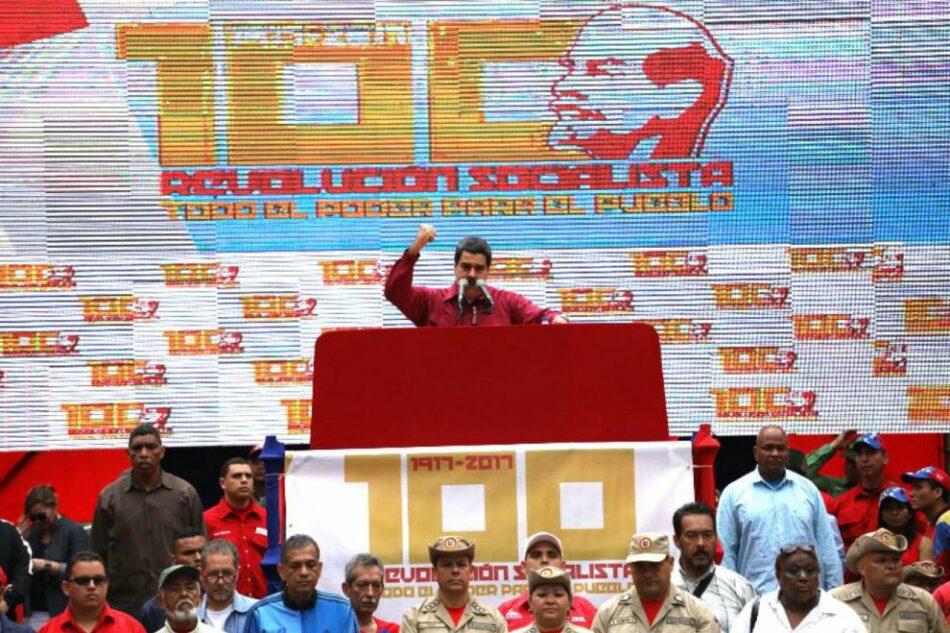 Venezuela conmemora el 100 aniversario de la Revolución Bolchevique