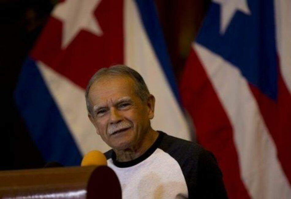 López Rivera llama a seguir ejemplo de Fidel por un mundo mejor