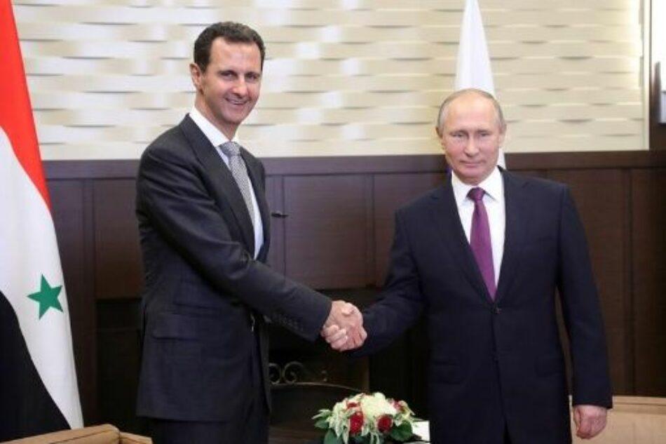 Putin anuncia que Gobierno sirio controla 98 % de su territorio