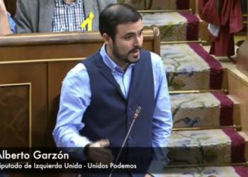 """Garzón reprocha a Montoro que su Gobierno es el """"verdadero antisistema"""" por """"traducir el crecimiento económico en desigualdad y en más recortes en sanidad, educación y prestaciones sociales"""""""