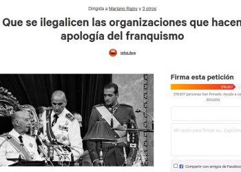La ARMH entrega hoy en el Congreso 218.600 firmas para ilegalizar la Fundación Franco