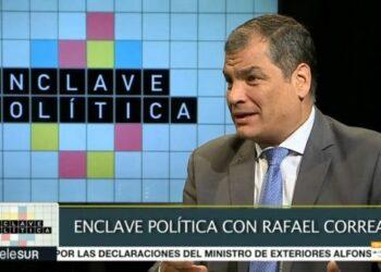 Rafael Correa afirmó que consulta promovida por el gobierno es un golpe de Estado en Ecuador
