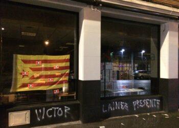 Ataque fascista contra la sede de Alternatiba, enésimo contra Hala Bedi, esta vez, contra su propio local y amenazas hacia otros colectivos (Vitoria / Gasteiz)