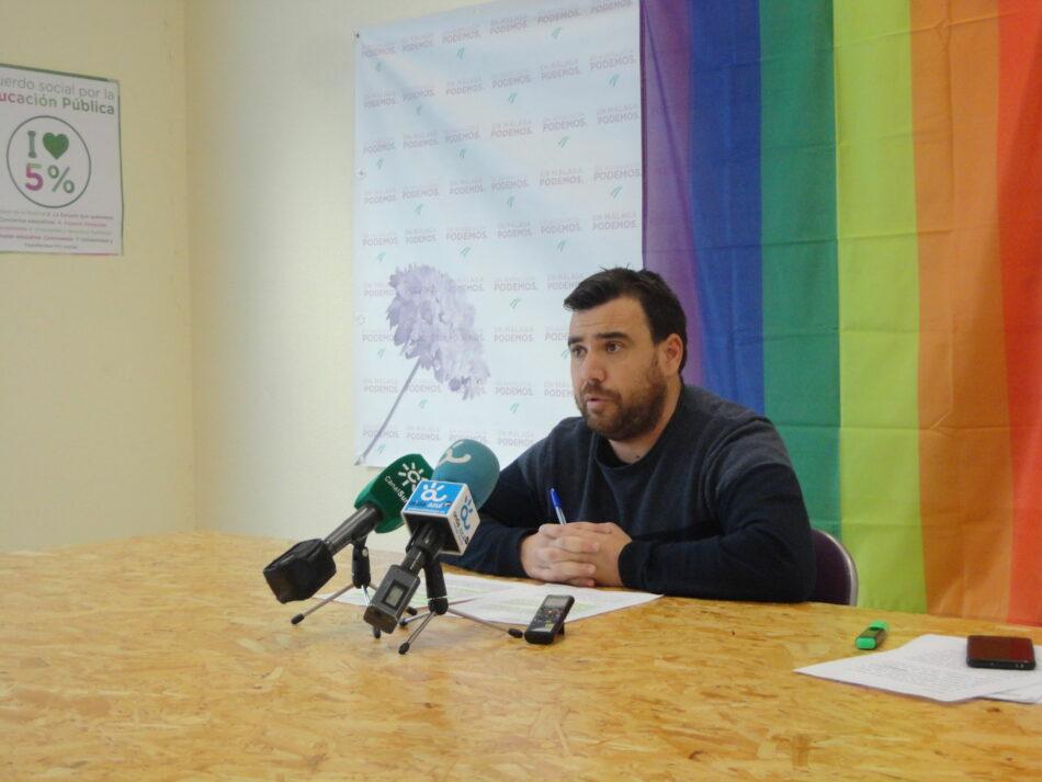 El Parlamento de Andalucía aprueba por unanimidad la Ley LGTBI a iniciativa de Podemos