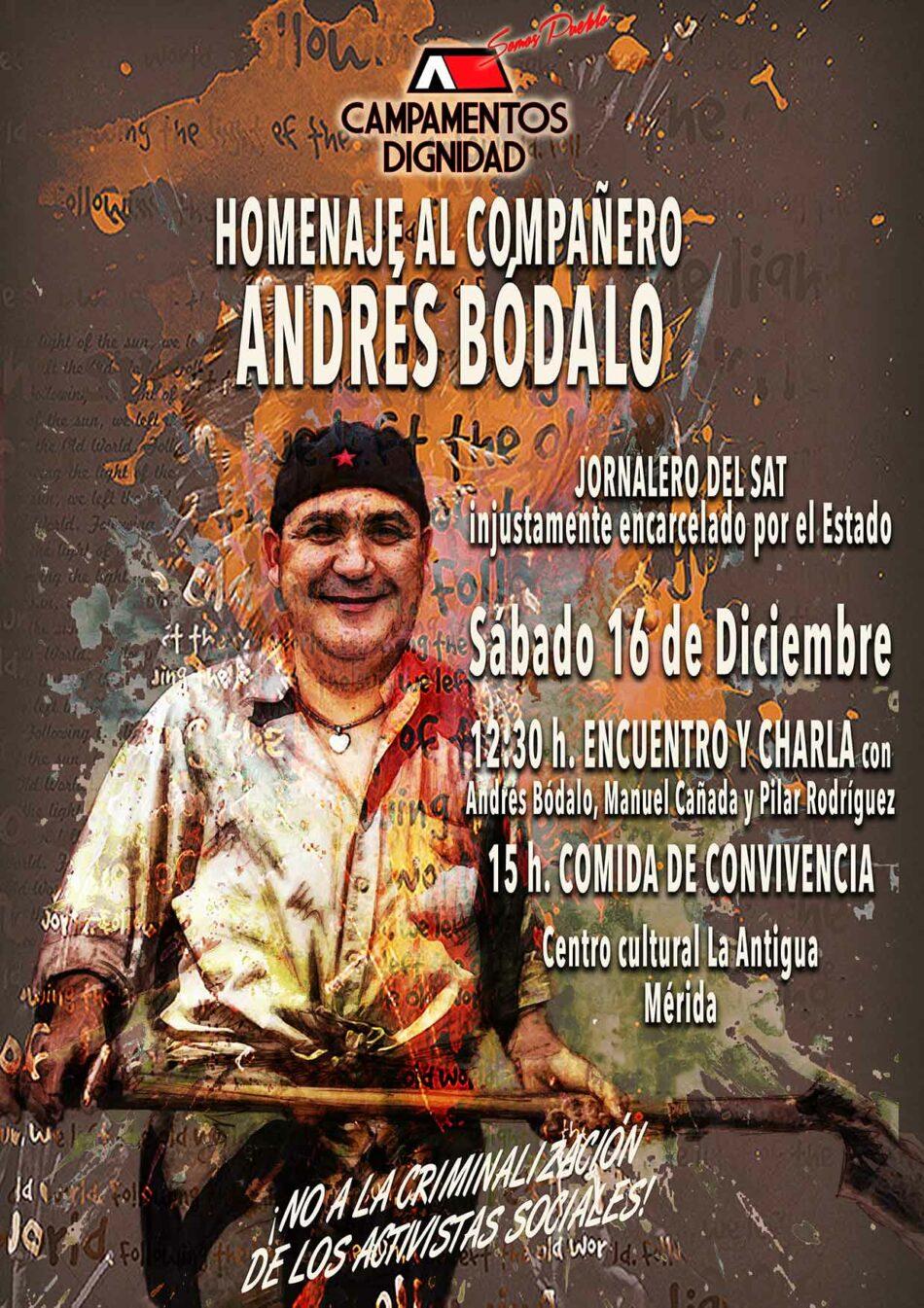 Homenaje a Andrés Bódalo en Mérida: sábado, 16 de diciembre