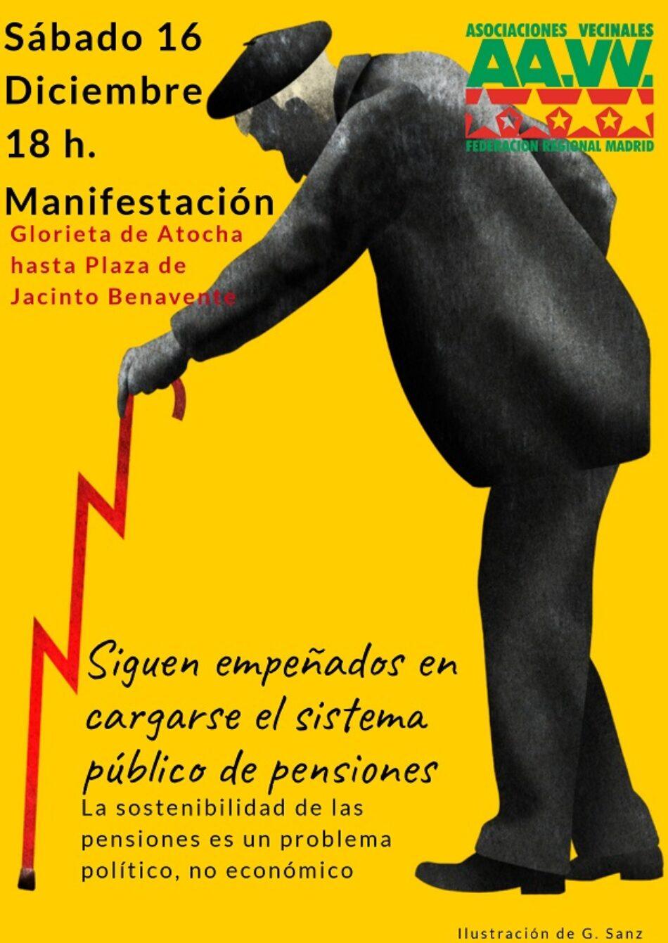 Plataforma Mayores en Acción: «el 16-D, salimos a la calle en defensa de unas pensiones dignas»