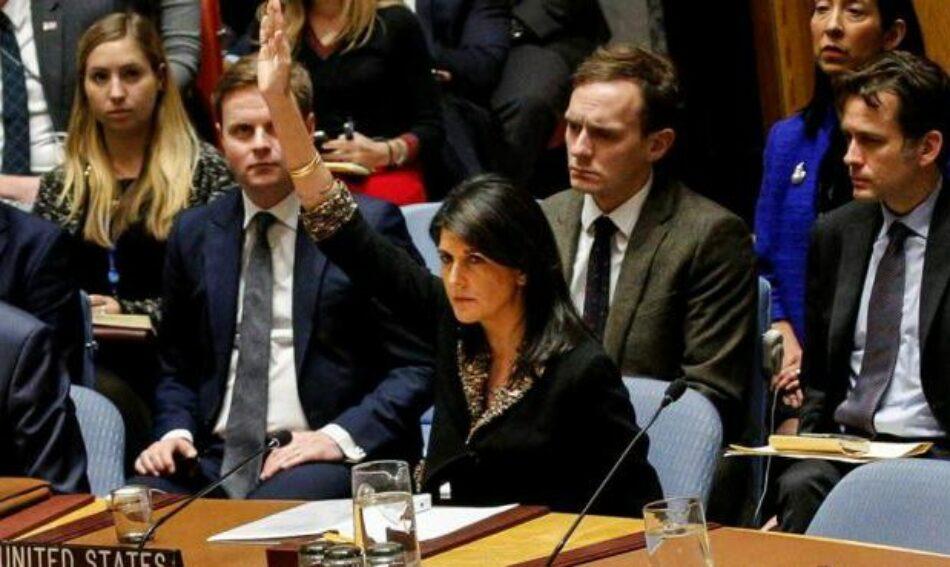 Tras el veto en el Consejo de Seguridad de las Naciones Unidas, EEUU e Israel se quedan aun más aislados