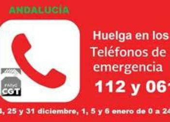 Sin acuerdo en el Secla para la huelga en el 112 y 061 en los principales días del período navideño