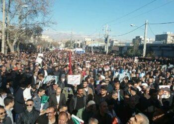 Iraníes marchan en todo el país en contra de las protestas violentas