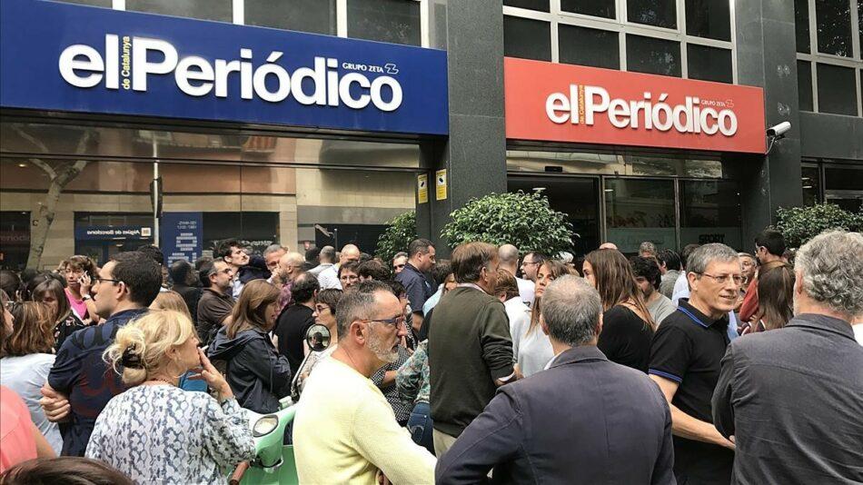 «Amenazan con un nuevo ERE salvaje en 'El Periódico'»