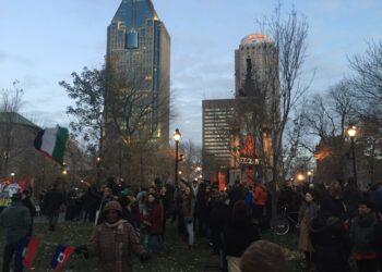 Concentraciones de vecinos contra la islamofobia y racismo antimusulmán en Montreal
