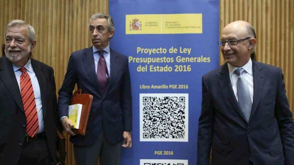 Unidos Podemos solicita la comparecencia de Montoro por la imposición del límite de gasto del 50% a los ministerios