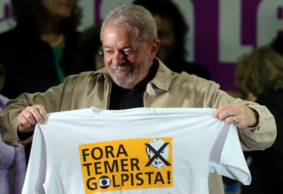 Izquierda Unida se moviliza junto a formaciones de izquierda y sindicatos a favor de un juicio justo para Lula da Silva