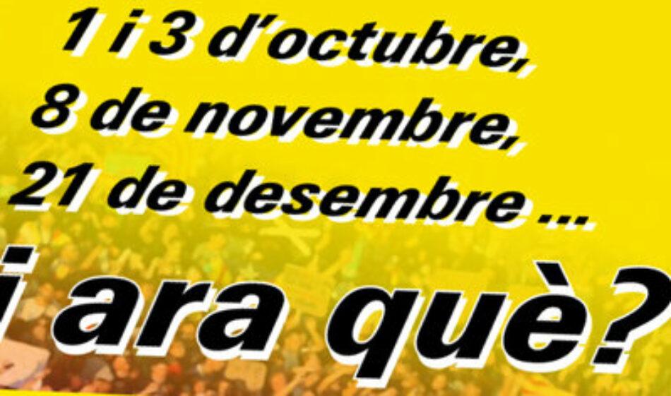 Catalunya: 1O, 3O, 8N, 21D… I ara què?