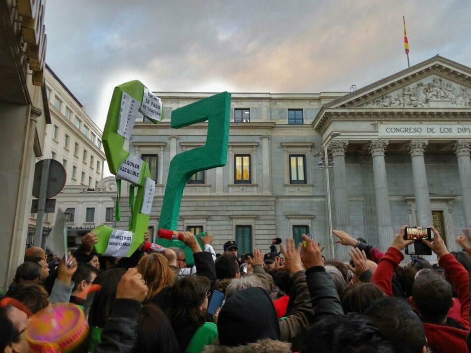 Las PAHs interpelan a M. Rajoy con una carta para que no vete la propuesta de Lay de Vivienda en el Congreso
