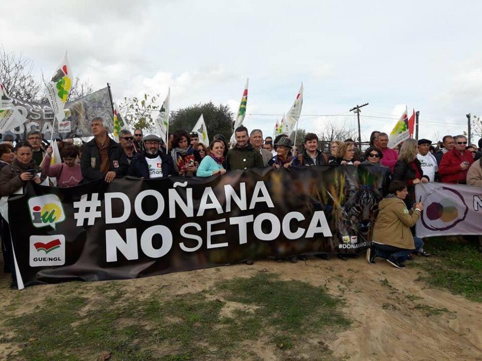 IU busca hasta el último momento que el informe de la Eurocámara sobre Doñana que se vota mañana exija acabar con el proyecto gasístico