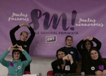 CNT aprueba por unanimidad convocar huelga general feminista para este 8 de marzo