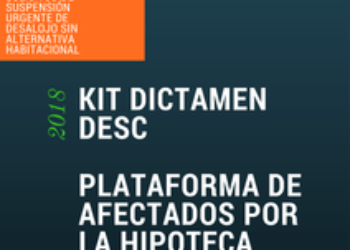 "Nuevo pack de documentos útiles – ""Kit Dictamen DESC"" para paralización urgente de desalojos"