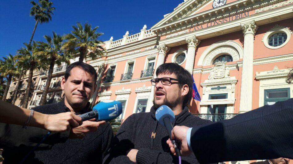 IU-Verdes apoya la propuesta de presentar la moción de censura como medida urgente de regeneración democrática en el Ayuntamiento de Murcia
