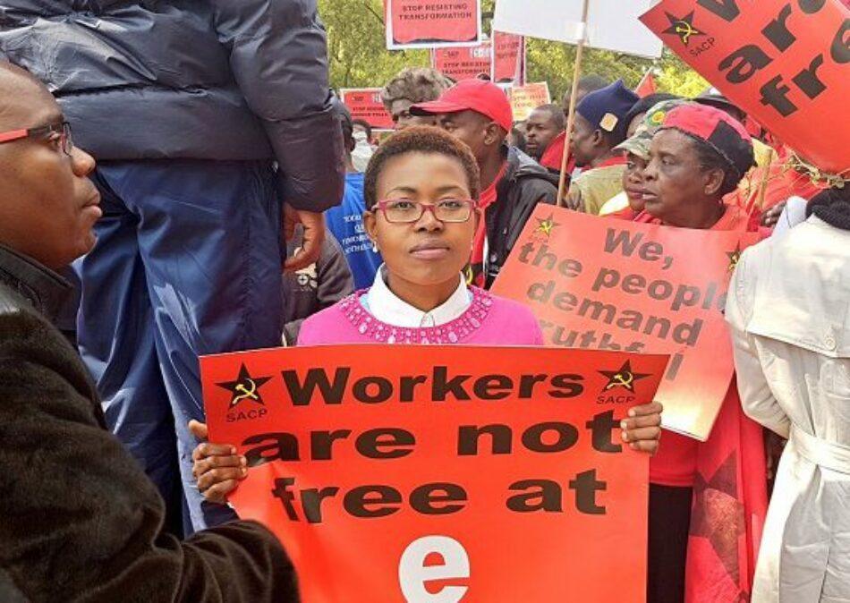 """Entrevista con la portavoz de NUMSA, el mayor sindicato de Sudáfrica: """"El apartheid sigue siendo una realidad en nuestro país"""""""
