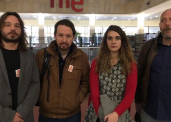 Unidos Podemos se reune con el Comité Intercentros: Iglesias afirma que «la situación de RTVE es desastrosa»