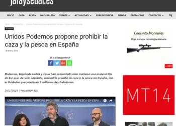 Unidos Podemos responde a las falsas acusaciones de la Real Federación Española de Caza