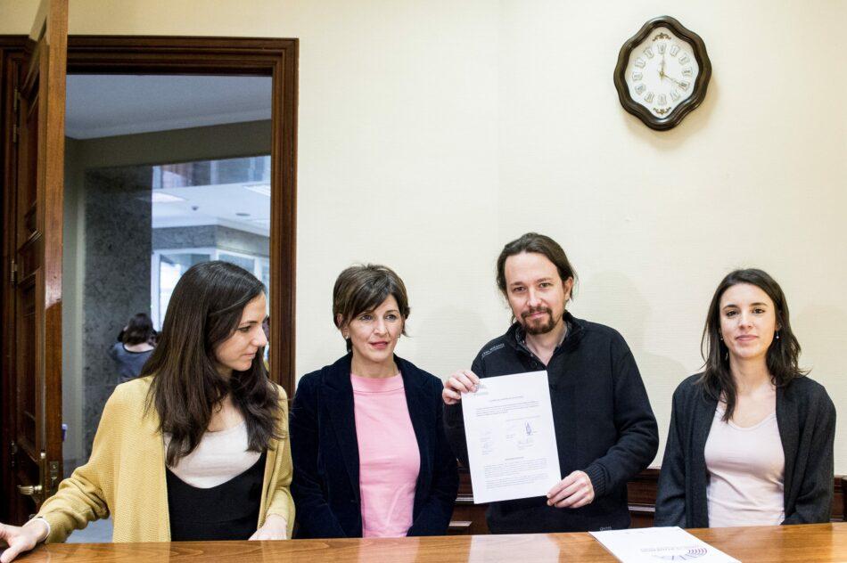 Unidos Podemos exige a Rajoy la celebración del Debate sobre el estado de la Nación, tras 3 años de silencio