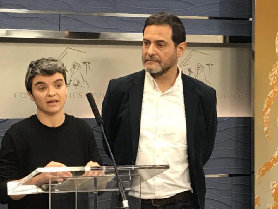 Lucía Martín i Josep Vendrell nous portaveus d'En Comú Podem al Congrés