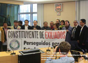 La Constituyente de Exiliados perseguidos por el Estado Colombiano se reunió el día 1º de Febrero de 2018 de 9 AM a 12: 30 PM con el Parlamento Europeo