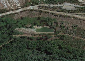 Así fue el vertido de la semana pasada en la mina de Touro