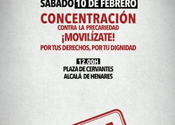 Concentración el 10 de febrero: «No Más Precariedad en Alcalá de Henares»