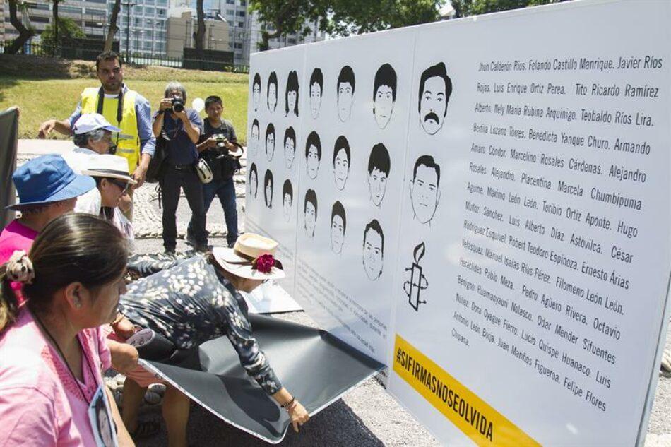 Inauguran un mural en Lima en rechazo al indulto otorgado a Fujimori