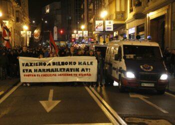 Malestar entre los colectivos antifascistas de Bilbao ante la cobertura mediática de los incidentes con ultras rusos del Spartak esta semana