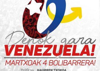 4 de marzo, Bolibar (Bizkaia): Denok gara Venezuela!, a los 5 años de la partida de Hugo Chávez
