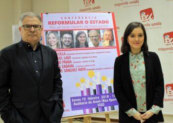Eva Solla e Manuel Lago presentan o coloquio que terá lugar en Vigo sobre un novo reparto de financiación