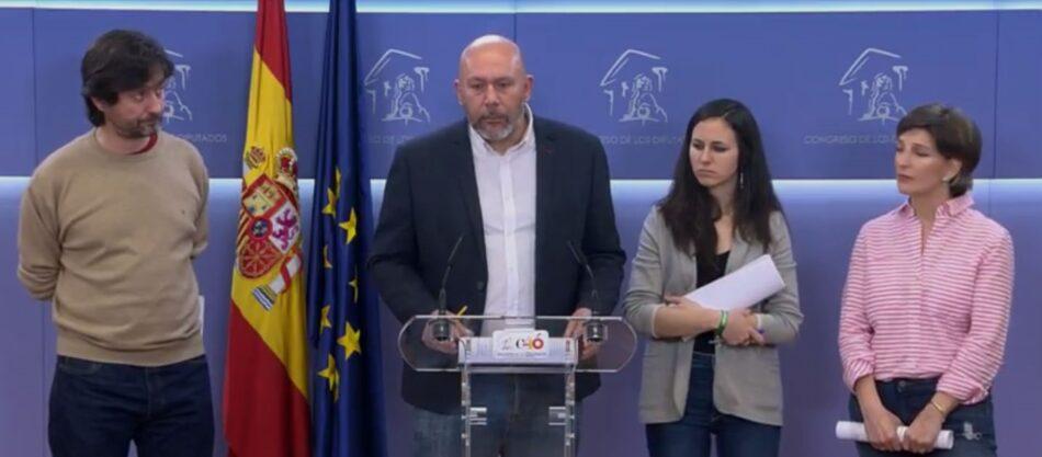 El grupo confederal Unidos Podemos-Catalunya en Comú-En Marea presenta una batería de enmiendas a la ley mordaza