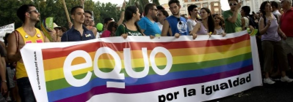 """EQUO tacha de """"insulto a los movimientos LGTBI"""" la presentación por parte del PP de un texto alternativo a la Ley LGTBI"""