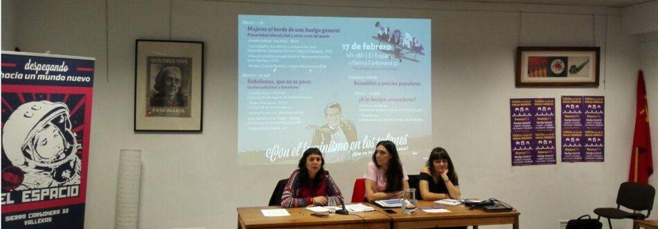 IU Madrid, PCM y UJCE animan a movilizarse de cara al 8 de marzo
