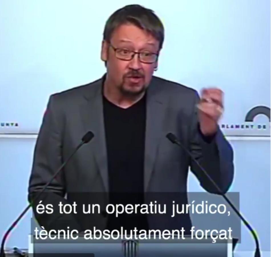 Domènech reclama fixar data per un ple urgent per desbloquejar la situació i en defensa de l'escola pública catalana