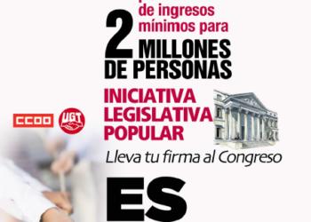 La ILP por la renta mínima de 426 euros sigue bloqueada en el Congreso por la ausencia en la votación de 5 diputados del PSOE