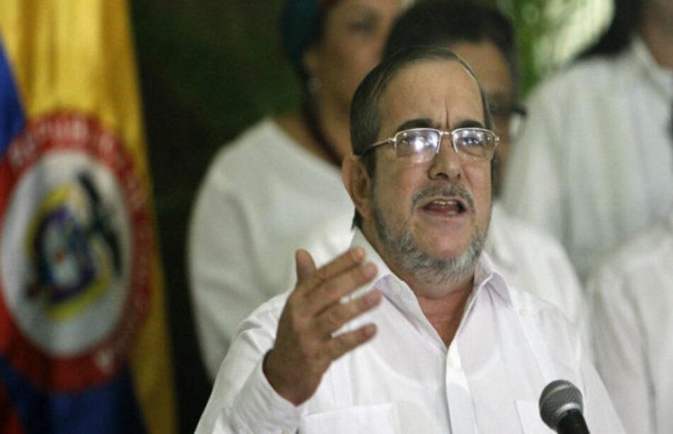 Posición de apoyo de Timochenko y del partido FARC a Venezuela Bolivariana