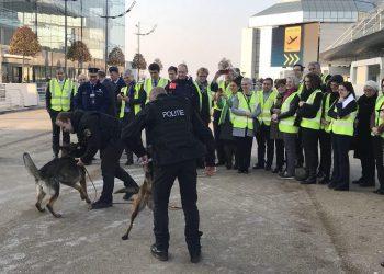 Javier Couso supervisa las nuevas medidas de seguridad del aeropuerto de Bruselas con la comisión especial sobre terrorismo