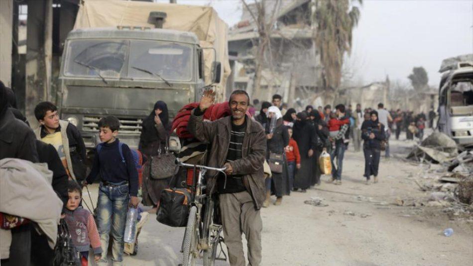 Miles de civiles se quedan en Guta gracias al avance del Ejército