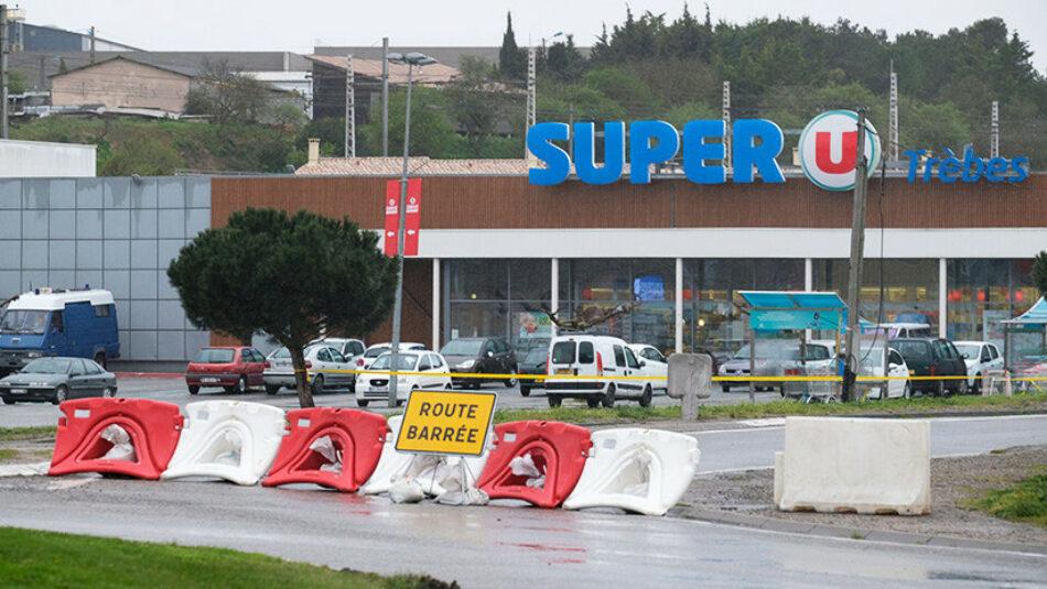 Muere el policía que se cambió por una rehén en el atentado del sur Francia