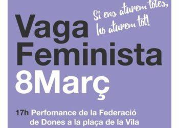 Badalona se suma a la convocatòria de vaga feminista amb motiu del 8 de març i crida a manifestar-nos juntes