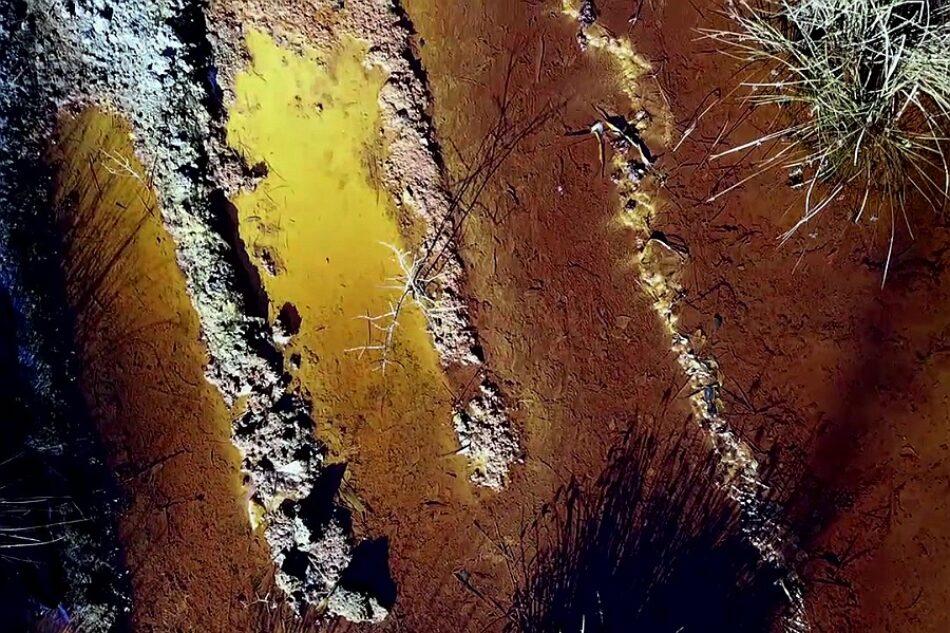 El drama ambiental provocado por la mina de Touro, a vista de dron