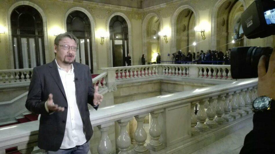 """Domènech reclama abandonar """"debats legitimistes"""" i recuperar l'autogovern de Catalunya per poder """"avançar"""""""