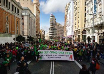 PAHs de todo el Estado se desplazan hasta Madrid en defensa de la Ley de Vivienda PAH