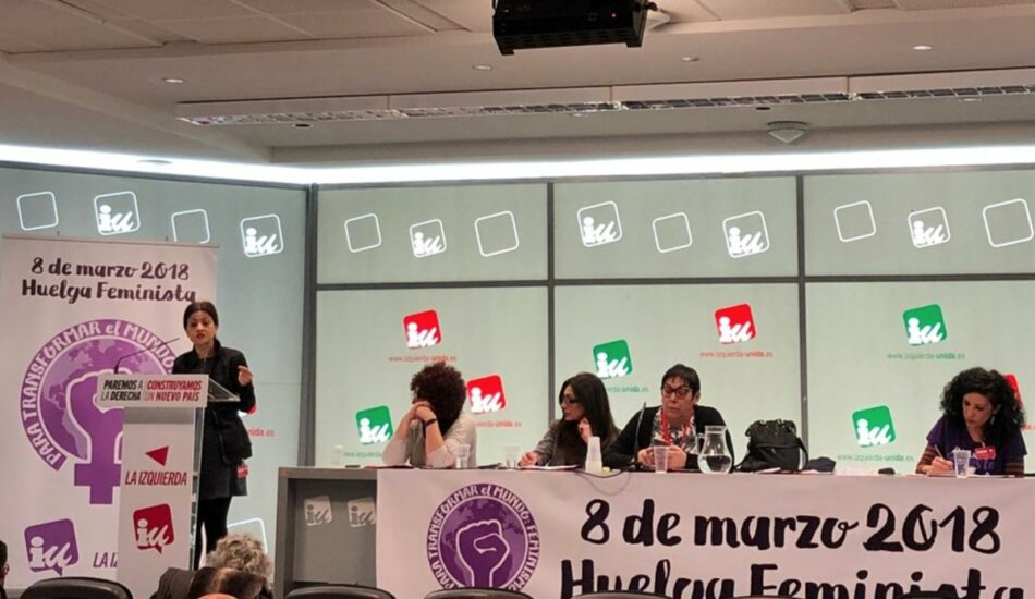 """Izquierda Unida ultima su operativo previsto de cara al 8M para poner de manifiesto su """"apoyo al 100% a la Huelga Feminista"""""""